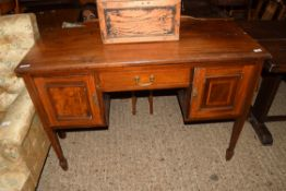 SMALL SIDEBOARD WITH INLAID DECORATION, LENGTH APPROX 122CM