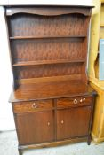 MAHOGANY EFFECT REPRODUCTION SMALL DRESSER, WIDTH APPROX 96CM