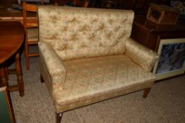 VINTAGE BUTTON BACK SETTEE, LENGTH APPROX 130CM