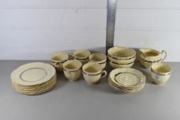 ART DECO STYLE PART TEA SET WITH A SILVER AND GOLD DESIGN