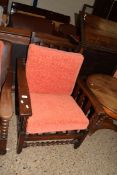 EARLY TO MID 20TH CENTURY OAK RECLINING EASY CHAIR, WIDTH APPROX 72CM