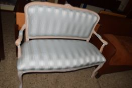 SMALL FRENCH STYLE TWO-SEAT SETTEE, LENGTH APPROX 115CM