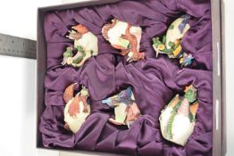 BOX CONTAINING SMALL MODEL DRAGONS AND DRAGON EGGS