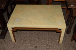 DECO STYLE COFFEE TABLE, APPROX 85 X 60CM