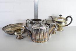 PLATED TEA WARES, TEA POT, MILK JUGS ETC