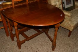 GATE LEG OVAL TABLE, LENGTH APPROX 163CM EXTENDED
