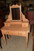 EARLY 20TH CENTURY MIRROR BACK DRESSING TABLE, WIDTH APPROX 92CM
