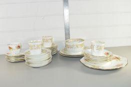 CERAMICS, MAINLY TEA WARES, CUPS, SAUCERS, SIDE PLATES ETC, SOME WITH A FRUIT DESIGN