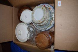 BOX CONTAINING CERAMICS AND GLASS