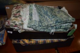 TWO BOXES OF CURTAINS