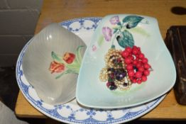 BLUE AND WHITE PLATE ETC