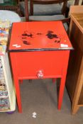 SMALL PAINTED BEDSIDE CUPBOARD