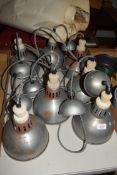 BOX OF RETRO PENDANT LAMP FITTINGS