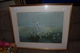 LARGE FRAMED PRINT OF A VERNON WARD PAINTING