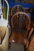 TWO WHEEL BACK CHAIRS