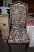TAPESTRY UPHOLSTERED CHAIR