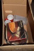 BOX OF PASTA MAKER AND OTHER KITCHEN WARES
