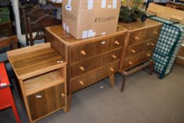 TWO RETRO CHESTS OF DRAWERS