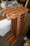 TWO PAIRS OF PINE BED ENDS