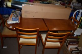 REPRODUCTION DINING TABLE AND SET OF SIX CHAIRS