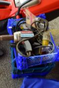 THREE BOXES OF VARIOUS HOUSE CLEARANCES SUNDRIES TO INCLUDE A LARGE QTY OF CHARGERS