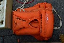 TWO VINTAGE LIFE JACKETS