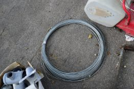 QTY OF GALVANISED WIRE