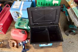 FISHING TACKLE BOX CONTAINING REELS, FLOATS, LINES ETC