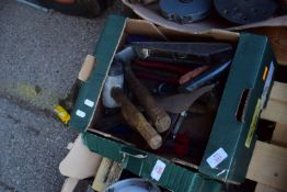BOX OF PLANES, RUBBER MALLET, HAMMER ETC
