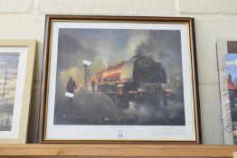 Framed pair of railway interest prints