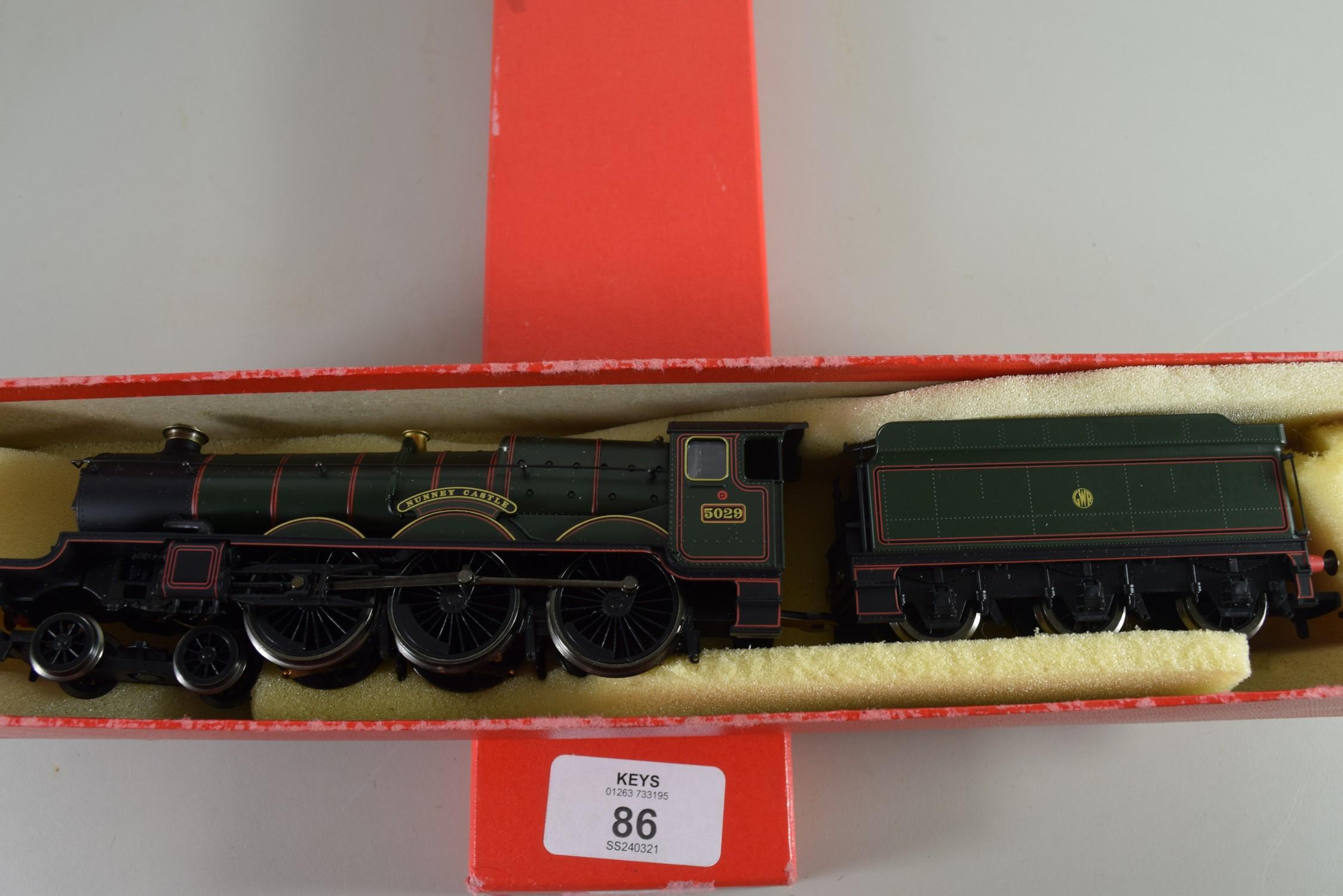 """Hornby """"Nunney Castle"""" locomotive No 5029 in non original box"""
