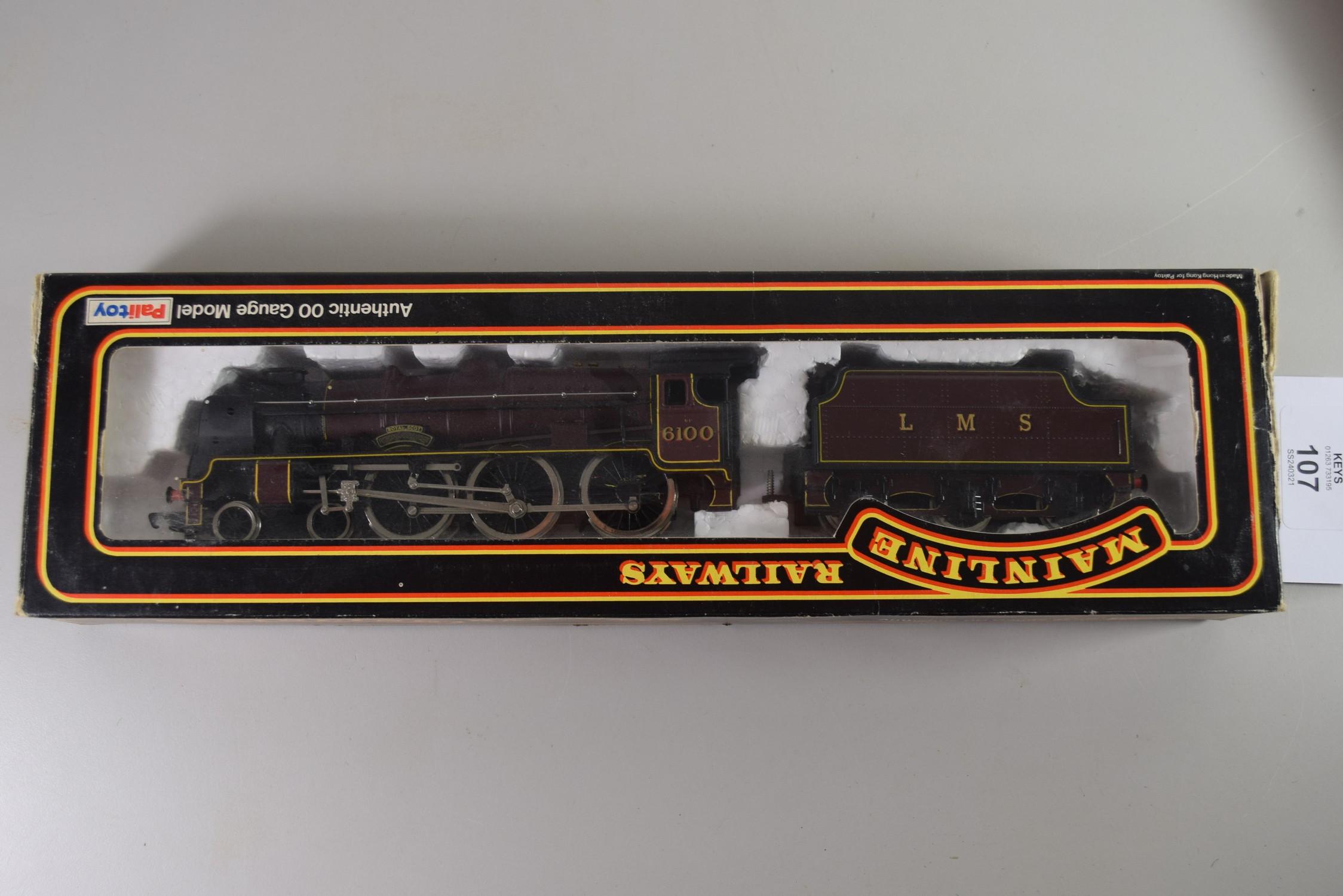 Boxed Mainline Railways 00 gauge Royal Scot locomotive No 6100 (non-associated box)
