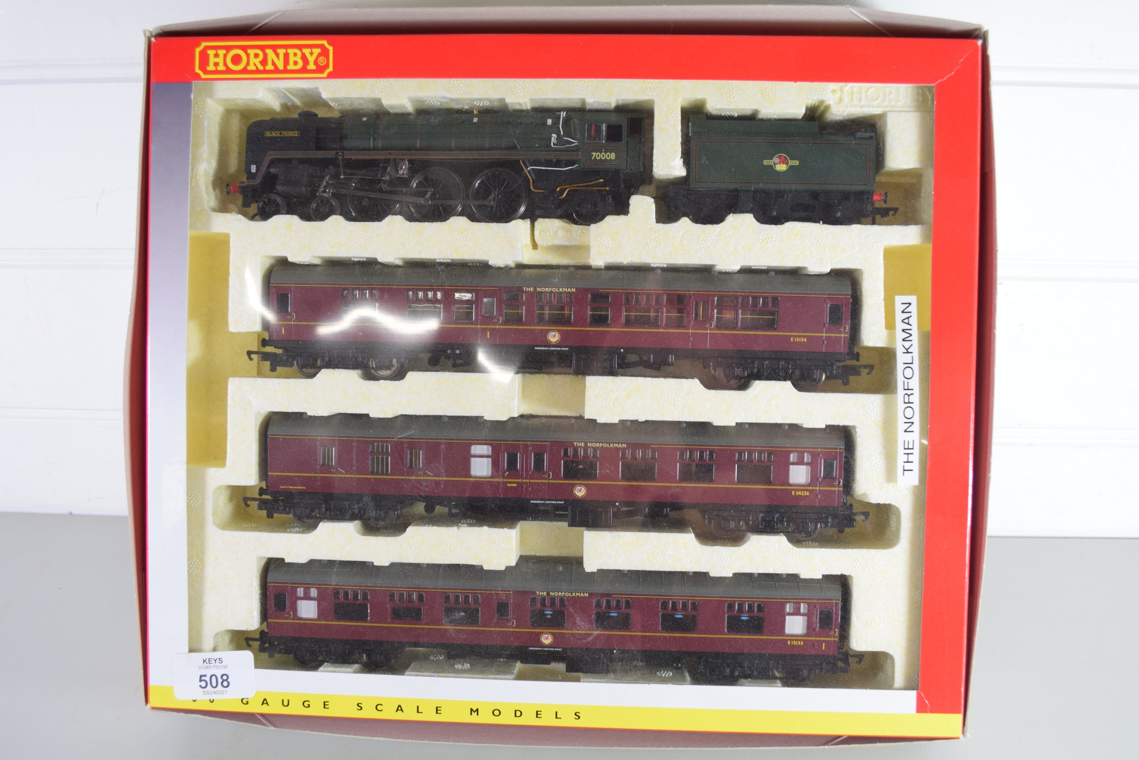 """Boxed Hornby 00 gauge """"The Norfolkman"""" set"""