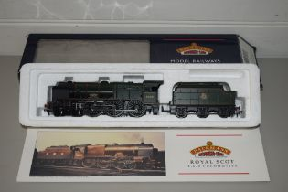 """Boxed Bachmann 00 gauge 31-284 parallel boiler Scot """"The Ranger"""" BR green, early emblem No 46165"""