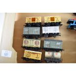 Group of eight unboxed 00 gauge goods wagons, various makers