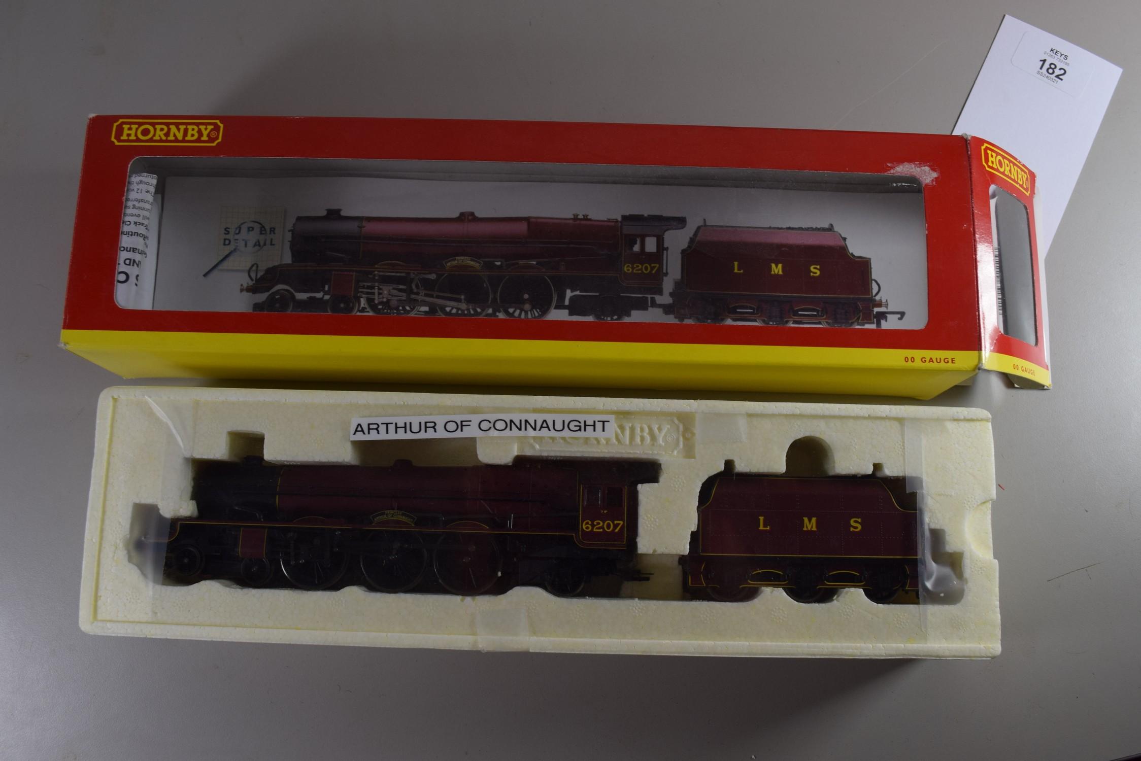 "Boxed Hornby 00 gauge R2225 LMS 4-6-2 Princess class ""Arthur of Connaught"" locomotive, No 6207"