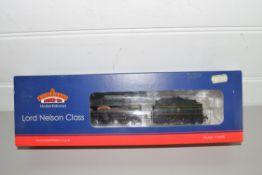 "Boxed Bachmann 00 gauge 31-409 Lord Nelson ""Sir John Hawkins"" BR green, early emblem, No 30865"