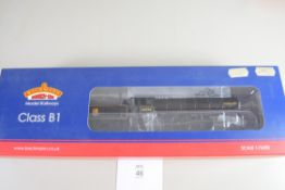 "Boxed Bachmann 00 gauge 31-714 Class B1 ""A Harold Bibby"", BR black early emblem No 61250 locomotive"