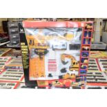 Boxed remote control construction set including controllers