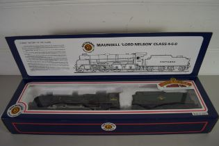"""Boxed Bachmann 00 gauge 31-403 Lord Nelson """"Lord Anson"""" BR green, No 30861 locomotive"""