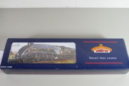 """Boxed Bachmann 00 gauge 31-960A A4 """"Quicksilver"""" D-chimney, BR green, late crest, weathered, No"""