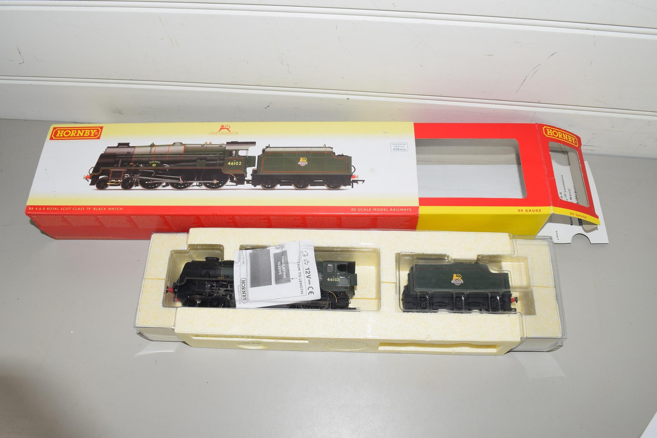 "Boxed Hornby 00 gauge R2628 BR 4-6-0 Royal Scot class 7P ""Black Watch"" locomotive, No 46102"