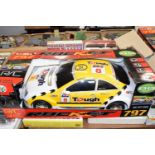 Boxed Rocket 16L RC sport racing car in yellow and white livery
