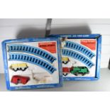 Two boxed play train sets by Meccano (partly missing)