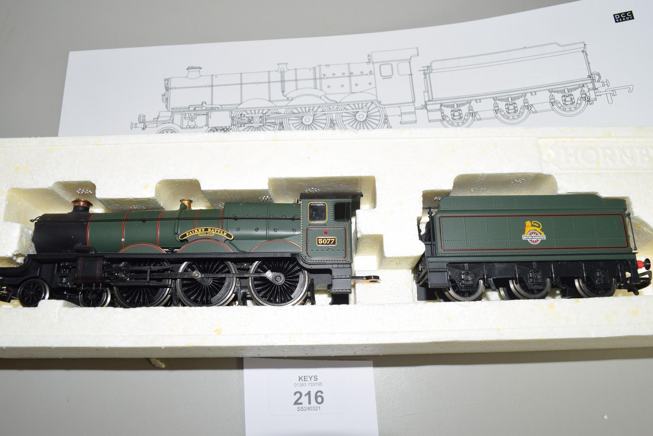 "Boxed Hornby 00 gauge R2551 BR 4-6-0 Castle class ""Farey Battle"" locomotive, No 5077 - Image 2 of 2"