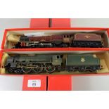 """Hornby """"Bunsen"""" locomotive No 45512 together with a Hornby """"The Princess Royal"""" locomotive No"""