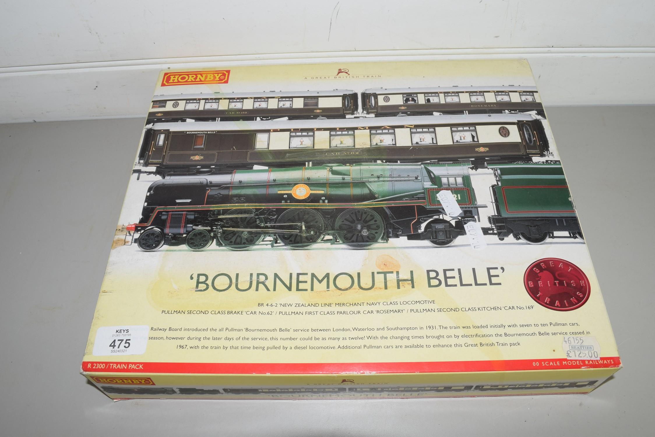 "Boxed Hornby 00 gauge ""Bournemouth Belle"" set"