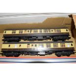 Group of two unboxed 00 gauge coaches