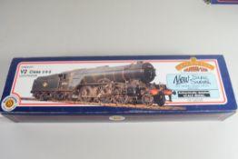"""Boxed Bachmann 00 gauge 31-553A V2 """"Coldstreamer"""" BR black, early emblem No 4844 locomotive"""