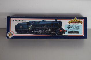 "Boxed Bachmann 00 gauge 31-155 Jubilee ""Galatea"" LMS red No 5699 locomotive"